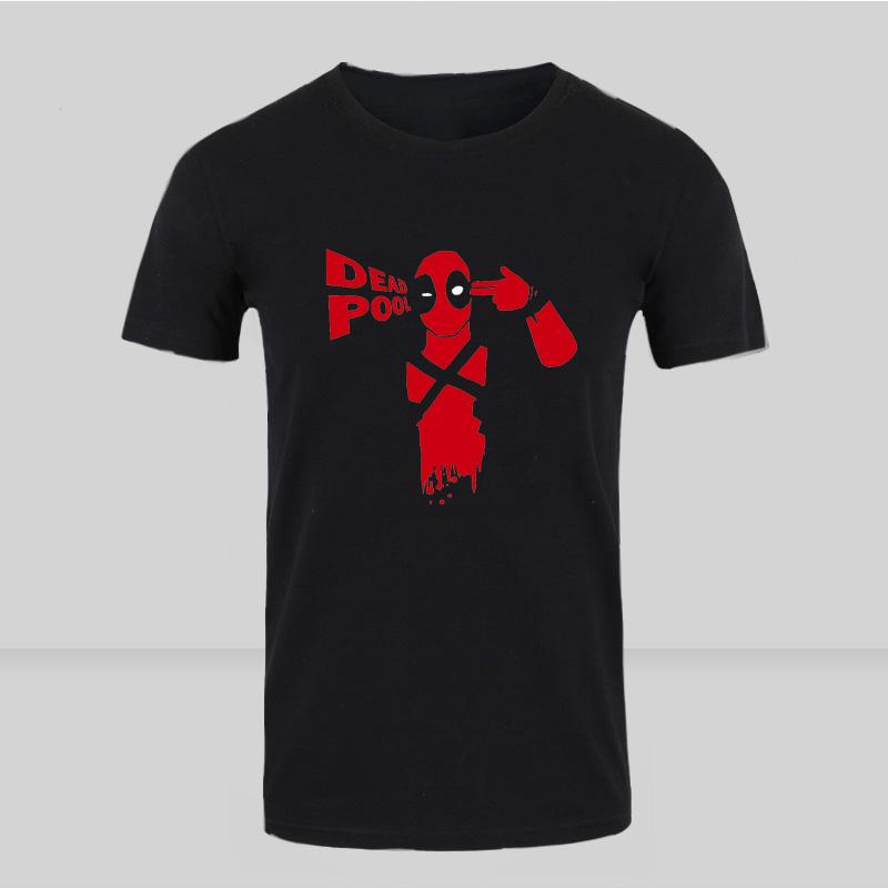new summer 2016 deadpool marvel t shirt hommes v tements 100 coton manches courtes imprim. Black Bedroom Furniture Sets. Home Design Ideas