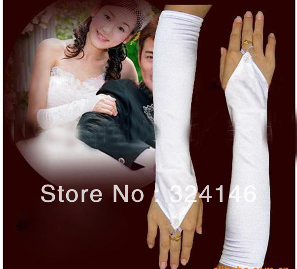 Free shipping  New Bridal gloves Wedding Gloves fingerless gloves beautiful gloves retail Wholesale