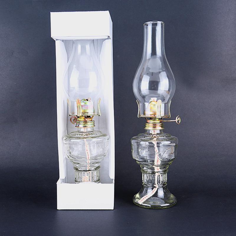 Advance Booking 32cm Glass Kerosene Lanterns Oil Lamp Glass Classic Retro Family Decorative Lights High Capacity High Quality(China (Mainland))