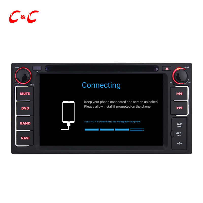 2 Din Universal Quad-Core Pure Android 4.4.4 PC Car DVD for Toyota Camry Corolla Avensis RAV4 Yaris Auris Prius with Radio IPOD(China (Mainland))