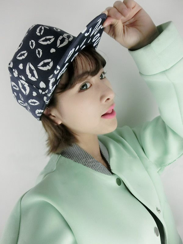 Brand New Mouth Print Luminous Baseball Caps Korean Style Hip Pop Hat 2015 Fashion Sport Hats For Men Women Snapback Hat(China (Mainland))