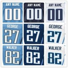 100% Stitched Men's #8 Marcus #13 Kendall #17 Dorial #27 Eddie 29 DeMarco #82 Delanie Elite Light Blue Navy Blue White Football(China (Mainland))