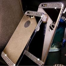 Rhinestone Diamond Mirror TPU Soft Bling Case Cover Samsung Galaxy S5 S6 S7 Edge Plus Note 4 5 A3 A5 A7 2016 A8 J5 J7 - Magic-world store