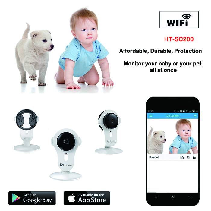 Wireless Baby Monitor Network Security IP Camera with Night Vision, Plug and Play , HD720P , WiFi , Free Android / iOS / PC APP(China (Mainland))