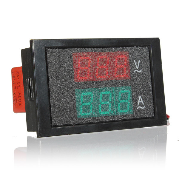 Гаджет  AC 80-300V 100A Ammeter Voltmeter Dual display Digital LED Car Voltmeter Panel Meter Transformer 110V 220V  None Инструменты