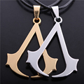 2016 Assassins Creed Jewelry Hidden Blade Cosplay Necklace Rope Chain Assassins Creed 3 Costume Pendant Punk