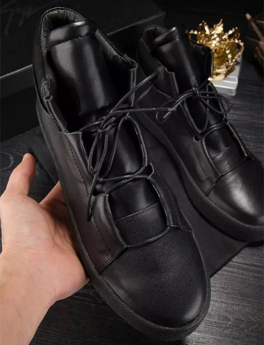 Black Booties Lace Up Gladiator Mens casual Shoes Flats kanye West Ankle High Top Quality Mens Shoes Leisure Shoes For Men