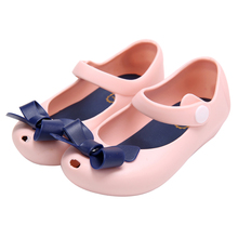 2016 Fashion New Baby Girl Shoes Summer Kids Children Shoes Sandals Bow Rubber Mini Rain Boots Cute Girls Princess Shoes(China (Mainland))