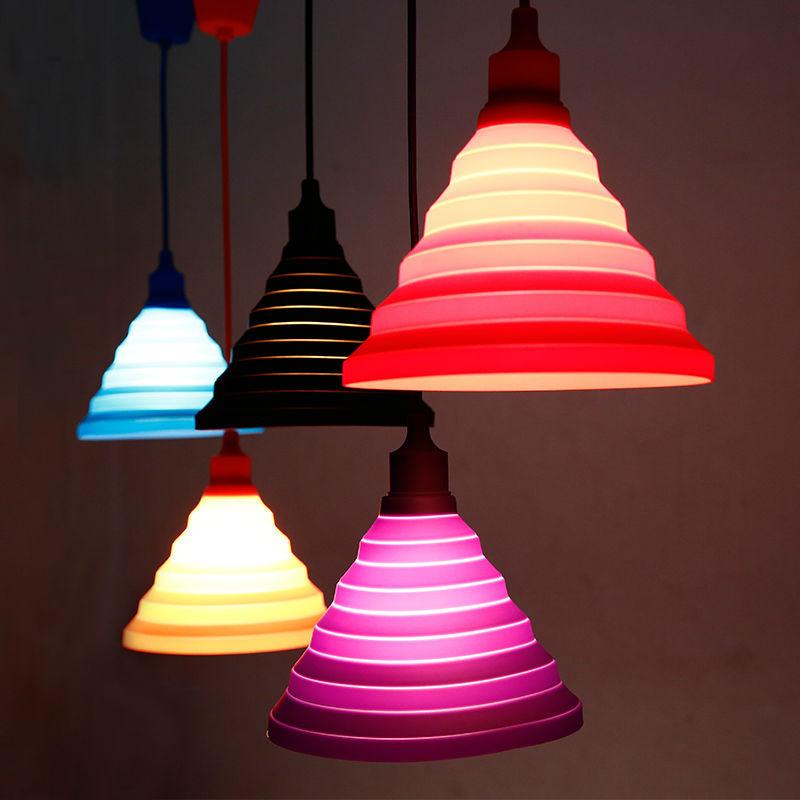 Modern Simple Colorful Silicone Pendant Lights Fashion DIY Design Color Child