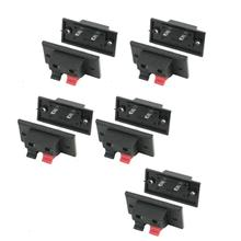 2015 Hot 10Pcs Push In Type Right Angel Speaker Terminal Connector 2 Positions(China (Mainland))