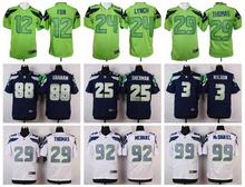 TOP A all% Stitiched,Seattle Seahawks,Marshawn Lynch,Richard Sherman,Kam Chancellor,Russell Wilsons,Jimmy Graham,Earl Thomas(China (Mainland))