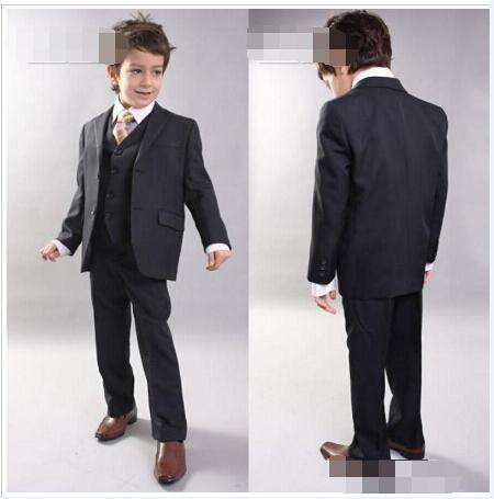 Фотография Kid Boy Tuxedos Suits Clothing Handsome Wedding Party Boys