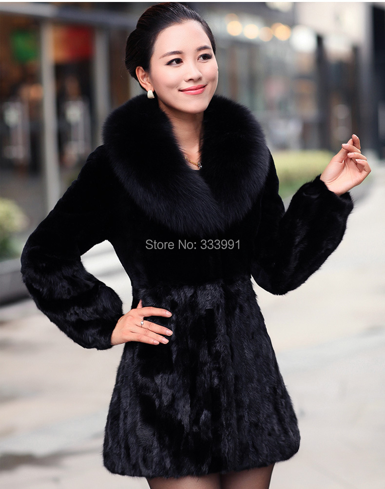 winter dress imitation mink fox fur short Rex Rabbit Fur Coat designerJacket special coat