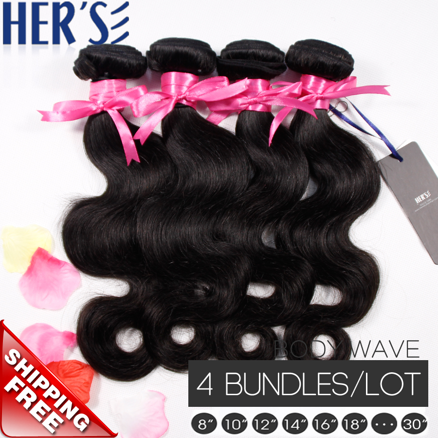 Гаджет  Natural Best Malaysian Body Wave Hair Weave,4 Bundles Virgin Malaysian Hair Can be WET and WAVY hair Styled,Human Hair Extension None Волосы и аксессуары