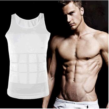 Мужчины в спорт тело для похудения нательное бельё формирователь жилет мускулы брюшной ...