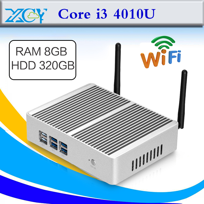 Fanless Design Mini PC I7 4500U 8G RAM 320G HDD Cheap Mini Desktop PC Windows 8.1/7/Linux/XP(China (Mainland))