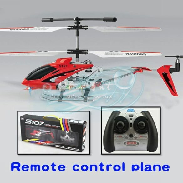 Wholesale Mini Infrared RC 3CH Remote Control Metal Model 3 Channel S107 Helicopter(China (Mainland))