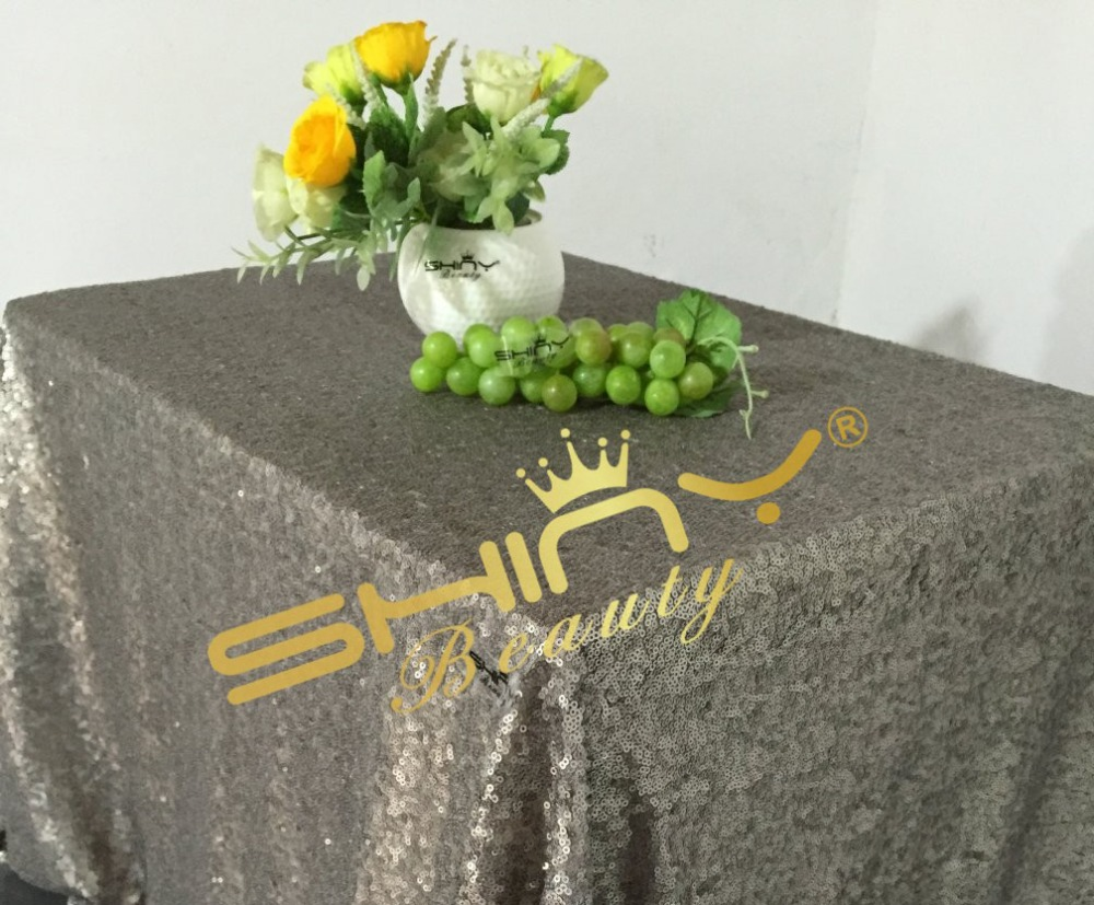 50''*50'' Dark Grey Sequin Tablecloth, Grey Table Linens, Glitz Sequin, Sequin Runners, Metallic, Overlays For Events Decor(China (Mainland))