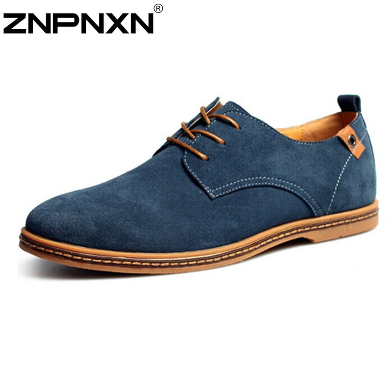 2015 New Nubuck Leather Men Sneakers Spring and Autumn male casual shoes summer shoes fashion leather shoes men's shoes Flats