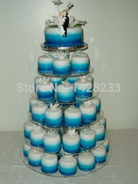 cooking tools/6 Tier Large Maypole Wedding Acrylic Cupcake Stand Tree Tower Cup Cake Display(China (Mainland))