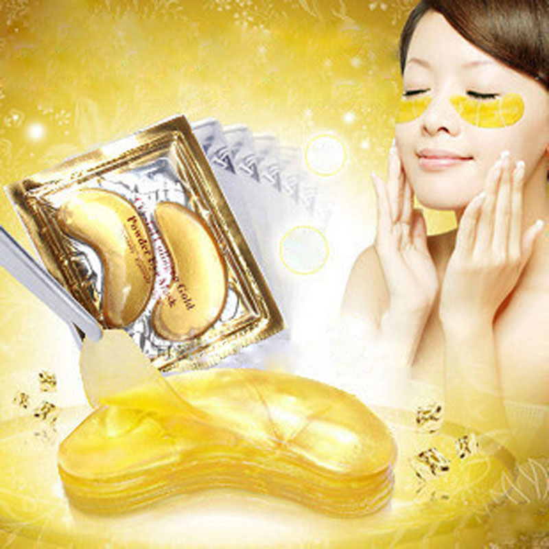 30pcs=15pair Gold Crystal Collagen Eye Mask Hotsale Patches Colageno Masks Dark Circles Removal - Online Store 827750 store