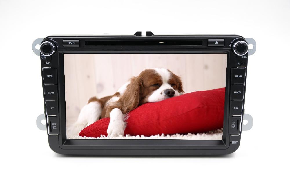8 inch Car GPS Navigation DVD VW GOLF 6 polo New Bora JETTA B6 PASSAT SKODA Double 2-Din Car Radio DVD Player(China (Mainland))