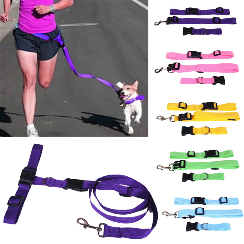 Newly Design 2015 Running Dog Pet Products Hauling Cable Leads Collars Traction Belt Pet Dog Traction Rope May8(China (Mainland))