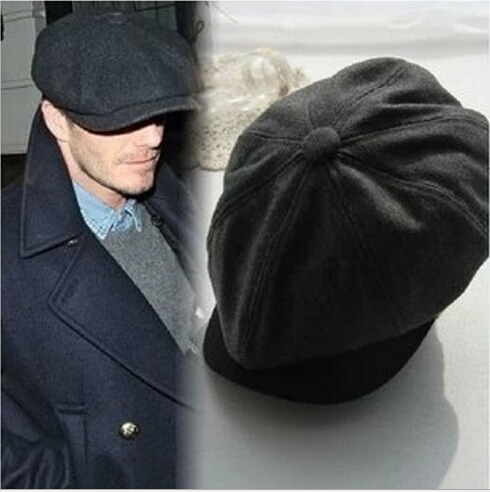 Beckham Same Male Fashion Gorras Planas Solid Boina Beret Hats Casual Octagonal cap 4 Colors