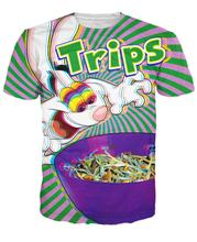 Trips Aren't For Kids T-Shirt Trippy Vibrant Trix Rabbit Character Psychedelic Summer Style T Shirt Sport Tops For Men