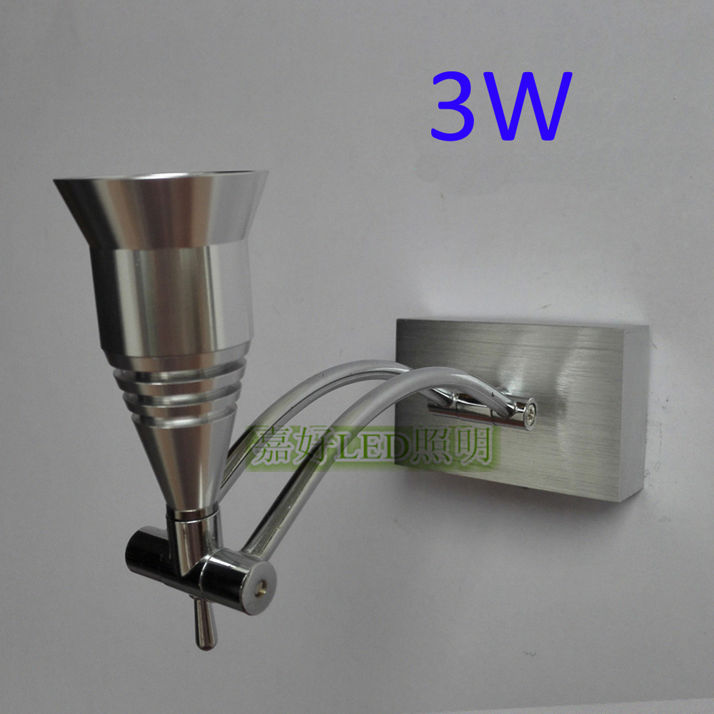 3W AC85 265V Wall Led Lamp Indoor For Living Room Bedside Reading Decroration Aluminum Material ...