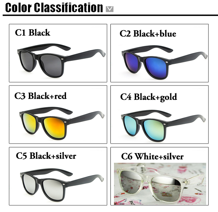 Hot 2015 Fashion Womens Wayfarers Sunglasses Mens Retro Designer Sun glasses Driving Outdoor UV400 Protection Lunettes