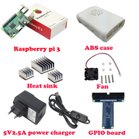 2016 Latest Raspberry Pi 3 Model B With Built in wireless and Bluetooth ABS Case Cooling