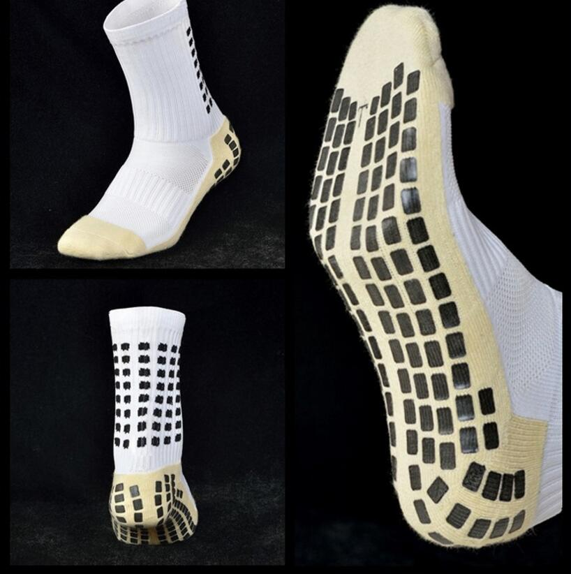 Fashion Men Anti-Slip Socks TockSox Mid Calf Socks Short Stockings TruSox Futbol Meias