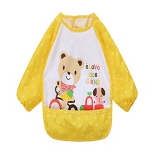 New Kids Feeding Bibs Waterproof Toddler Baby Boys Girls Point Cartoon Childern Saliva Smock Apron Bibs & Burp Cloths(China (Mainland))