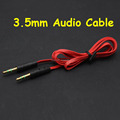 1M Red 3 5mm Jack AUX Auxiliary Flat Noodle Cord Male to Male Stereo Audio Extension