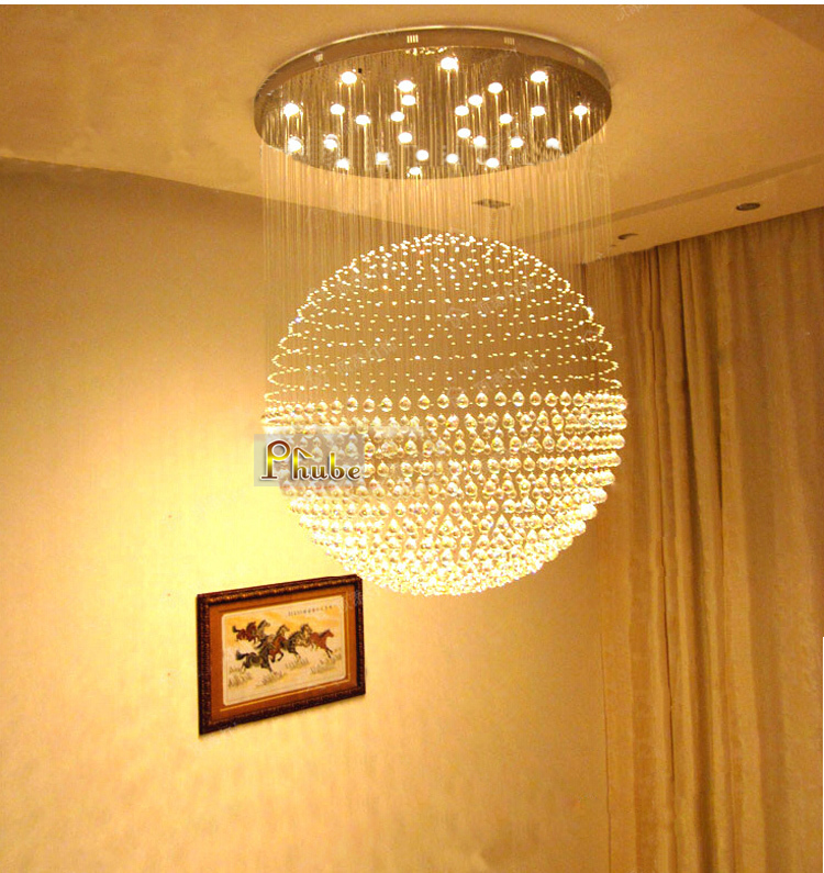 Width 150cm Super sized Modern Crystal Chandelier Light Lighting Used in Shopping Mall Hotel Lobby Guaranteed 100%+Free shipping(China (Mainland))