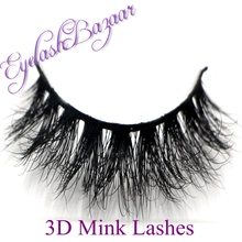 New 1 pair MYKONOS 3D mink eyelash wholesale Lilly 100% real mink fur Handmade crossing lashes D008 individual strip thick lash(China (Mainland))