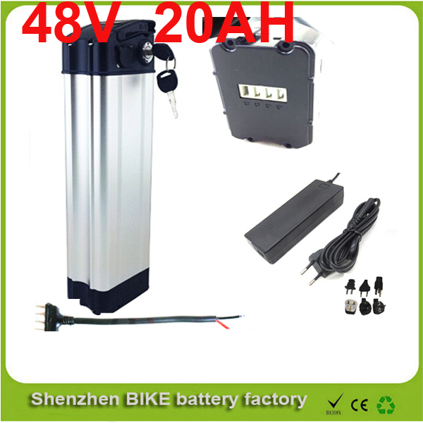 ebike 48v battery electric bike battery 48V 20Ah,for bafang / 8fun 1000w motor with Aluminium Case BMS with Bottom discharge(China (Mainland))