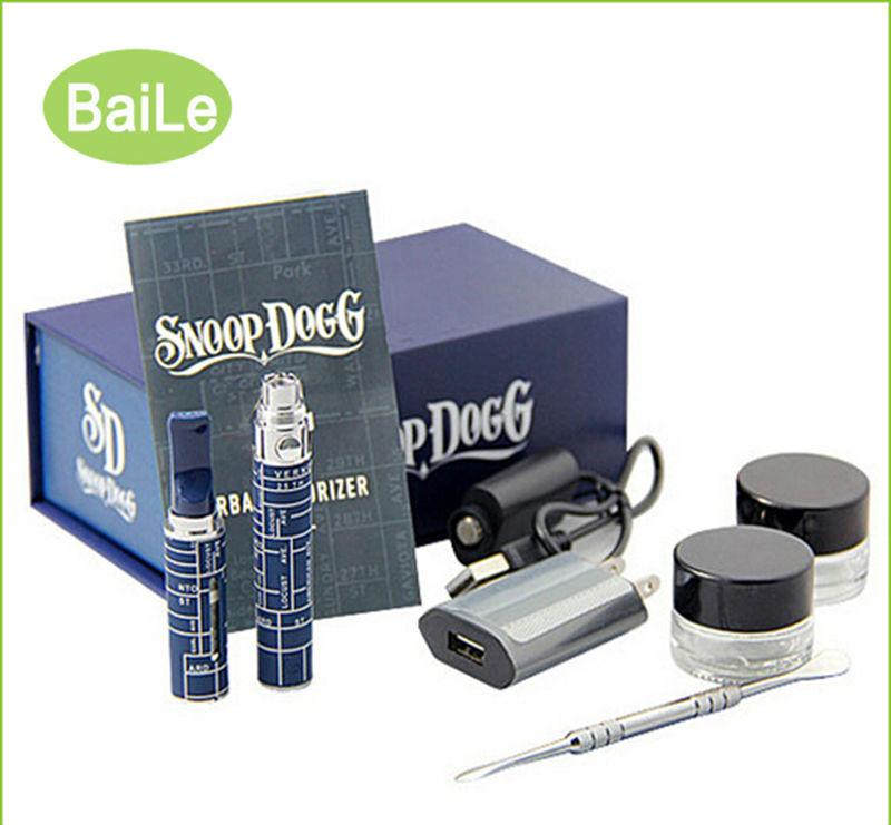 100pcs/lot cheap electronic cigarette kit snoop dogg dry Herb herbal vape wax g vaporizer pen blister gift box case e-cigarette(China (Mainland))