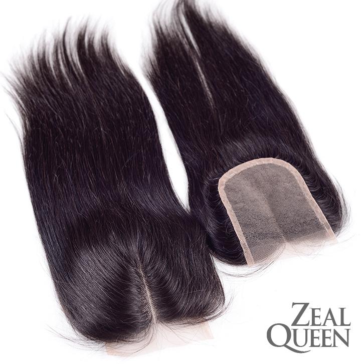 7A Grade Virgin Hair Silk Base Closure Straight 4