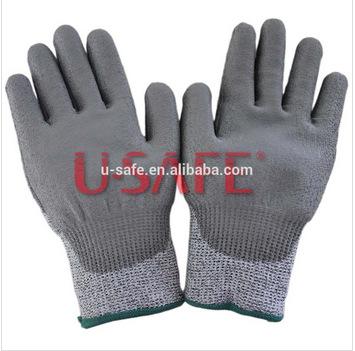 Anti Cut Safety Gloves Aramid Fiber EN388 Cut Resistance 5 working glove Grade HPPE Cut Resistant Work Glove(China (Mainland))