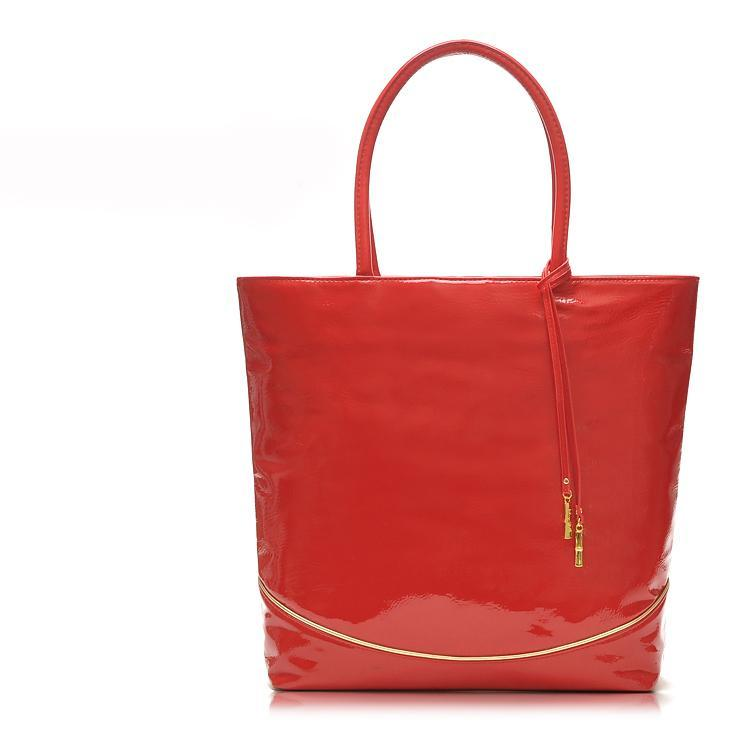 H1421 EE SWEET CANDY RED Patent Leather TOTE BAG SHOPPER Handbag FREE SHIPPING DROP SHIPPING WHOLESALE sale(China (Mainland))