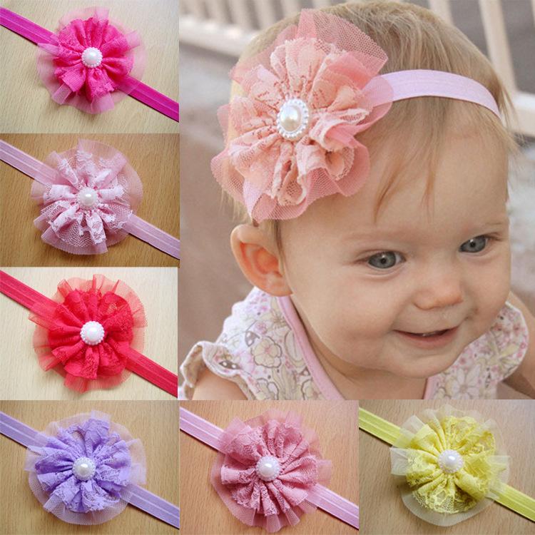 ... Baby Girl Newborn Girls Pearl Flower Headband Photography Props on