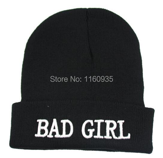 New Beanies and Skullies BAD GIRL BOY Street Hiphop Hats Winter Beanies 8Mixed Order(China (Mainland))