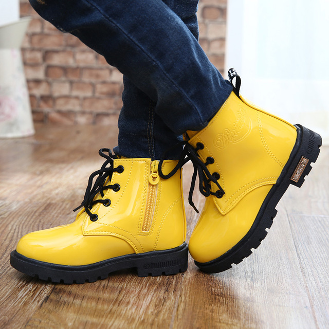 Children shoes девушки зима снег сапоги shoes 2017 осень-весна детские ботинки мальчиков Тонг Mading сапоги водонепроницаемый kids shoes