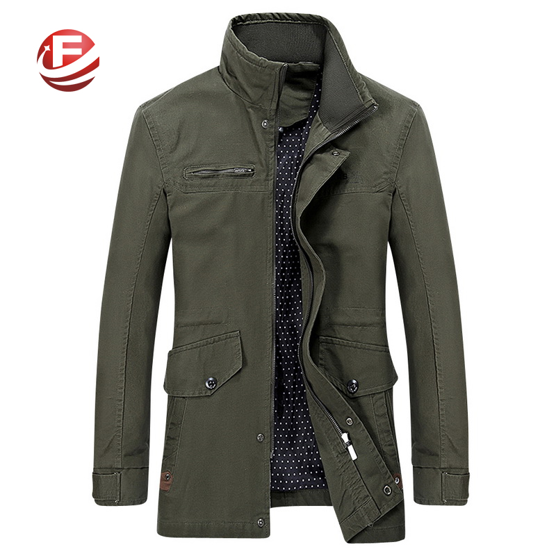 Fast Delivery Men Slim Fit Jackets Brand New Winter Coats Big Size M-4XL Man Fashion Outerwear Khaki / Black / Army Green(China (Mainland))