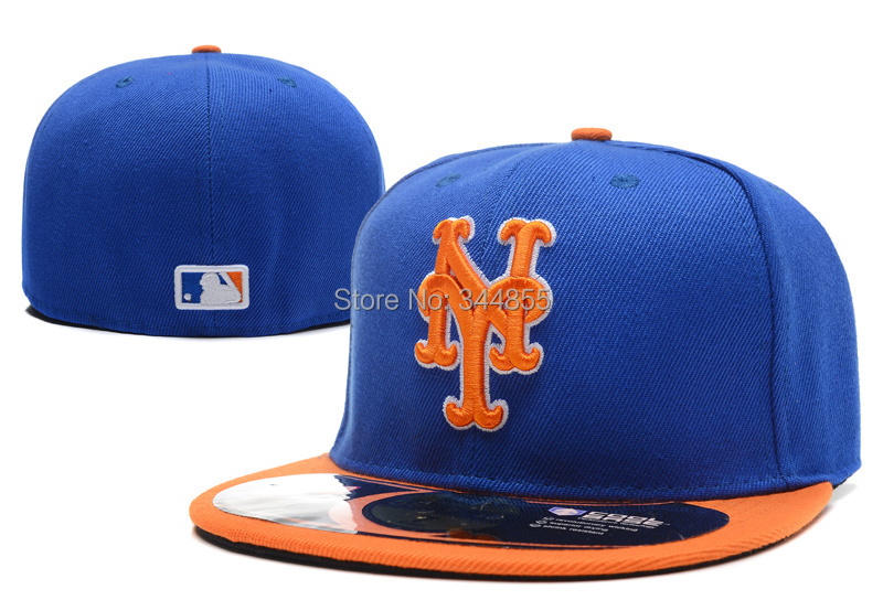 Top quality Men's New York Mets On Field Baseball Fitted Hats Women's Sport Full Closed Caps Women's Free Shipping(China (Mainland))