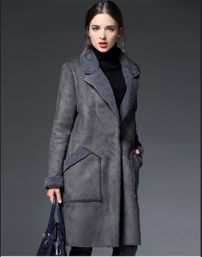 New winter jacket women Suede imitation lambs wool winter coat thick cotton long suede coat women TT035Одежда и ак�е��уары<br><br><br>Aliexpress