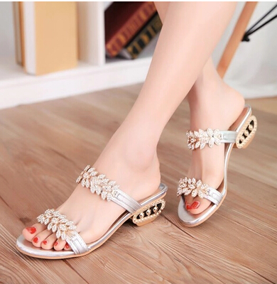 Big Size 34-43 Fashion Women Wedges Flower Cutout Summer Shoes 2014 New Platform Open Toe Rhinestone Sandals - Voguedepot store