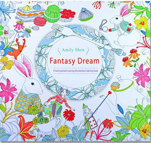 24 Pages Drawing Book Fantasy Dream English Edition Coloring Book For Childs Adult Relieve Stress Kill Time Painting(China (Mainland))